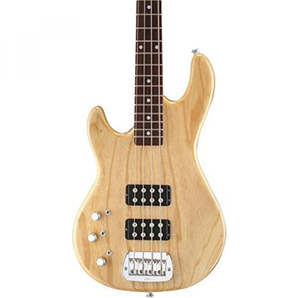 G&L Tribute L2000 Left-Handed Electric Bass Guitar Gloss Natural Rosewood Fretboard